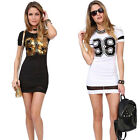 New Women Summer Casual Short Sleeve Bodycon Evening Party Cocktail Mini Dress