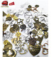 70 PCS Bronze Gold Silver Assorted Antique Gears Mixed Metal Alloy Heart shaped