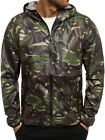 Mens Camouflage Spring Jacket Windproof Coat Blazer Outwear Hooded Streetwear