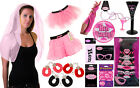 WOMEN/ LADIES HEN NIGHT PARTY MASK HAND CUFFS, SHORTs CUP, PARTY SASH
