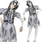Damaged Doll Costume – Ragged Rag Dress Outfit Cracked Broken Sinister Halloween