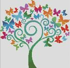 Counted Cross Stitch Pattern or Kit, animal, Butterfly tree, art