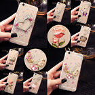 For Mobile Phone Bling Crystals Handmade TPU Soft Transparent Back Case Cover #6