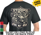 Three Stooges Motorcycle Larry Moe Curley New Short Or Long Sleeve Mens T Shirt