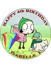 SARAH AND DUCK - PERSONALIZED ICING CAKE TOPPER'S VARIOUS SIZES
