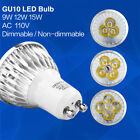 GU10 LED Bulb Dimmable Spotlight  AC 110V Replace Lighting Lamp 9W 12W 15W