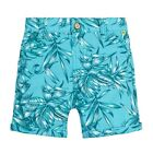 TED BAKER Baby Boys Turquoise Leaf Print Shorts   0-3m 3-6m