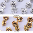 Antique Flower Spacer Beads Metal Caps Jewelry making Supply 50pcs 100942