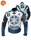 blue motorbike leather jacket r6 bike jacket with ce armors riding apparel