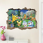 Внешний вид - NEW Pokemon Go Pikachu Mural Wall Decals Sticker Kids Room Decor Removable Vinyl