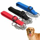 Adjustable Pet Dog Puppy Martingale Half Chain Choker Collar Training Trainer