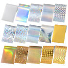 10 Sheets Shimmer Holographic Nail Art Foil Sticker Paper Decoration