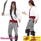 Mens Carribbean Pirate Man Costume Halloween Buccaneer Swashbuckler Fancy Dress
