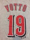 NWT Men's Majestic Joey Votto Cincinnati Reds Name & Number T-Shirt 2XL/XL/L/M/S