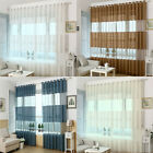 Elegant Sheer Window Curtains Breathable Bedroom Living Room Balcony Screens