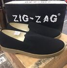 Zig Zag Wino Shoes-Black Slip-On * Tan Sole