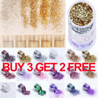10ml Champagne Super Fine Glitter Dust Powder Sheets Tips 3D Nail Art Decoration