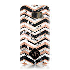 PERSONALISED CUSTOM MARBLE INITIAL NAME PHONE CASE COVER FOR SAMSUNG GALAXY