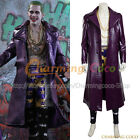 Suicide Squad The Joker Batman Jared Leto Cosplay Costume Halloween Uniform Cool