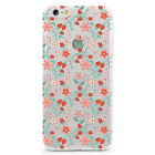 UV Printed TPU Case Floral Food Summer Strawberry Flower Pattern