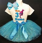 TROLLS  3rd Birthday Dress --With NAME-- party Tutu outfit image