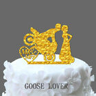 Bride And Groom Wedding Cake Topper Silhouette Mr And Mrs Motocross Cake Decor