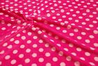 Double Sided Supersoft Cuddlesoft Fleece Fabric Material - CERISE PINK SPOT