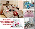 Duvet Cover Sets 3D Digital Printed Bedding Pillow Cases All Size Best Quality