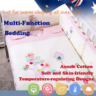 4Pcs Baby Toddler Kid Quilt Sheet Pillow Case Bedding Winter 2.5tog 3.5tog Pink