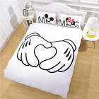 Bedding Set Mickey Mouse Duvet Cover Bedding Plain Printed Sheet Cartoon Minnie,