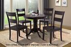 "M&D FURNITURE 36"" ROUND DINETTE DINING ROOM KITCHEN TABLE IN CAPPUCCINO"