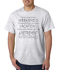 Bayside Made USA T-shirt Workers Prayer God Grant Me Weekends Vacations