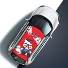 Cute Cartoon kitty Girl Car Roof Decal Vinyl Sticker Full Color Fit Any Car Auto