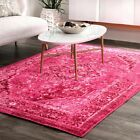 nuLOOM Overdyed Vintage Traditional Distressed Area Rug in Pink