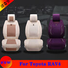 Bring New Flax Car Seat Cover For Toyota RAV4 Vehicle Chair Cushion Protector