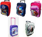 Disney Childrens Charater Trolley Backpack Rucksack Luggage Cabin Bag Suitcase