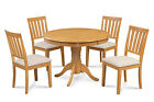 "M&D FURNITURE 36"" ROUND DINING ROOM SET IN OAK FINISH"