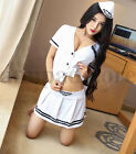 Cosplay Navy Girl student Club sexy lingerie transparent sailor uniforms Pyjamas