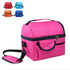 8L Insulated Portable Tote Work Picnic Travel Lunch Ice Bag Double Layer BJC