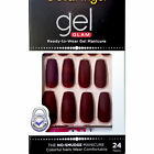 KISS GOLD FINGER GEL GLAM MANICURE GLUE ON MATTE COFFIN 24 NAILS-GFC10 MAUVE