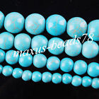 Howlite Turquoise Gemstone Round Loose Spacer Beads 6mm 8mm 10mm 12mm MBG049