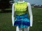 Worthington Multi-Color Tie-Dye Sleeveless Knit Top w/Peplum Hem ($40)