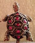 Silver Plate Turtle Ring Comes in 6 Color Variations Size 7 - 7 1/2