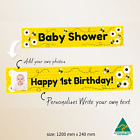 Personalised Unisex Bee Baby Shower Party Gift Idea Banner Canvas Decorations
