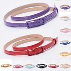 Skinny Fashion  Waistband Colorful New Leather Women Narrow Thin Waist Belt