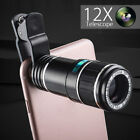 12X Zoom Telephoto Telescope Optical Camera Lens+Clip For Mobile Phone Universal