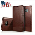 For Samsung Galaxy S6/S7/S9 Leather Wallet Cards Holder Flip Case Stand Cover