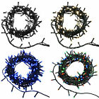 LED Christmas Tree Lights String Chasing Static Settings Blue Warm Bright White