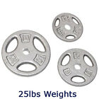 """CAP Barbell 1"""" Olympic Weights SINGLE 2.5lb - 25lb Pounds Solid Cast Iron Plates"""