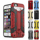 Shockproof Stand Card Wallet Hard PC Protector Case For iPhone 7 Plus 6S 6 SE 5S